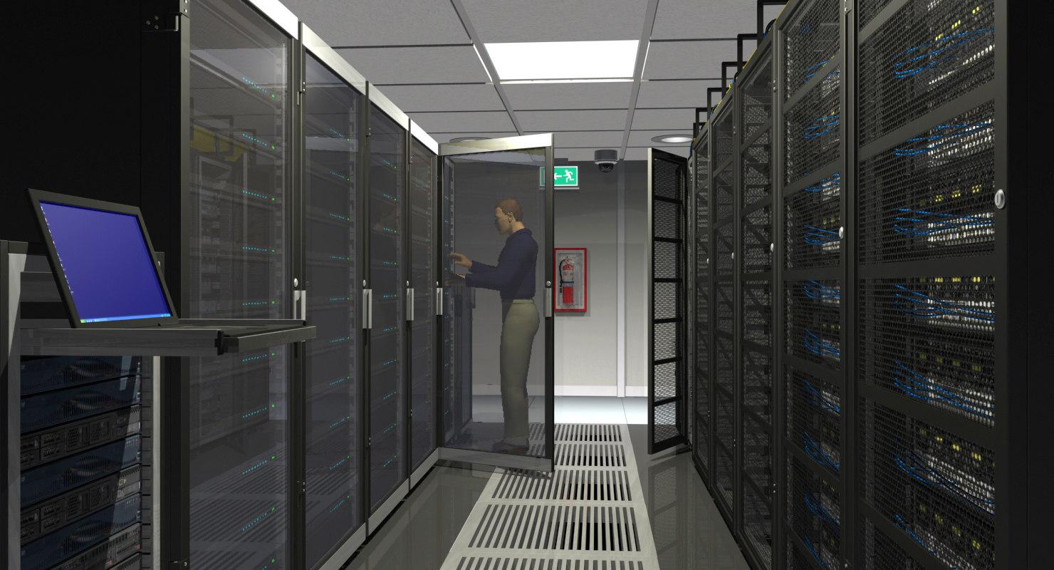 3d model center office server room