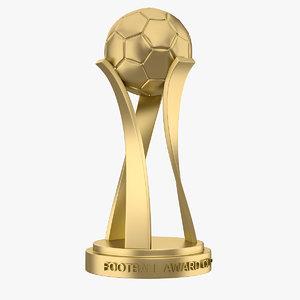 3d model of football award cup