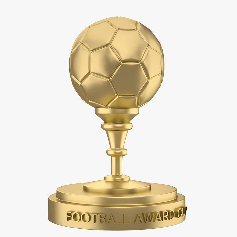 3d football award cup model