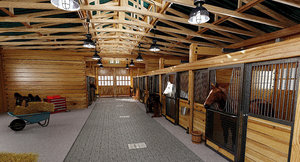 horse stable 3d max