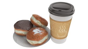 3d model coffee buns