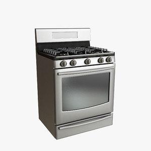 gas range 3d model