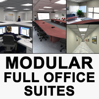 Modular Office Suite with Humans