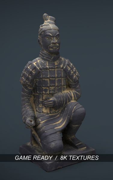 terracota archer 3d model