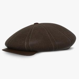 3d model newsboy cap