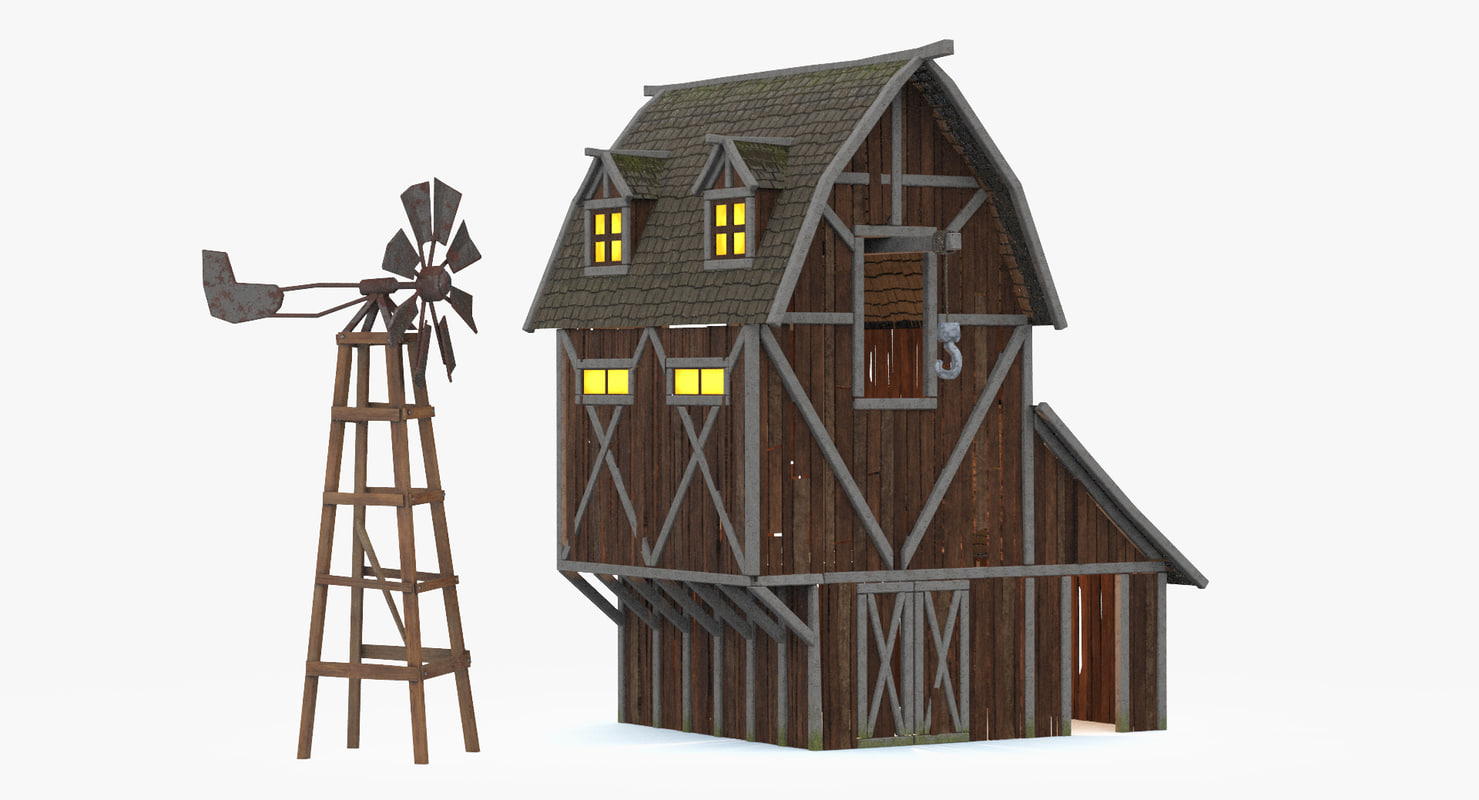 3d barn windmill