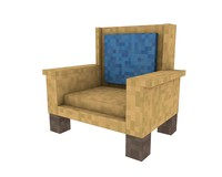 armchair minecraft furniture c4d