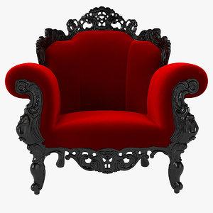 magis proust armchair 3d max
