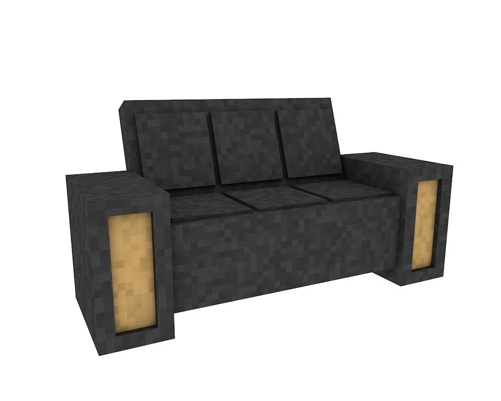 sofa minecraft c4d