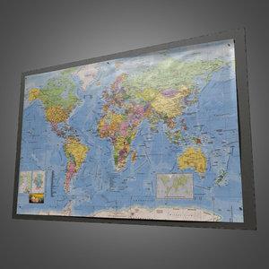 wall poster pbr ready 3d model