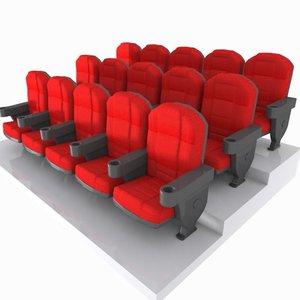theater seat toon obj