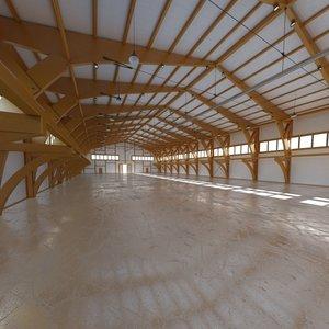hangar world scene 3d max