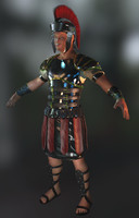 Roman Soldier Real Time Game Character
