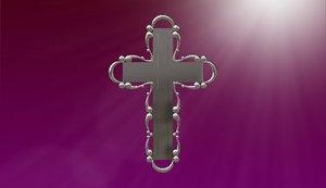 3d cross jewelers cnc model