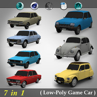 1 low-poly car 3d 3ds