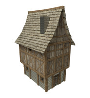 3d model small fantasy medieval house