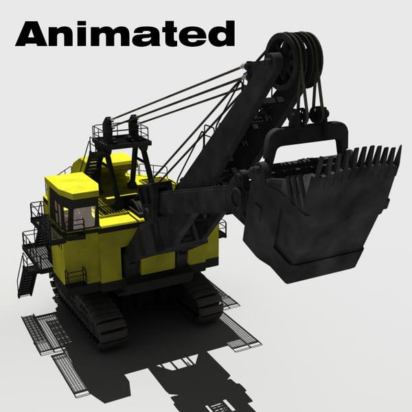 3d mining shovel