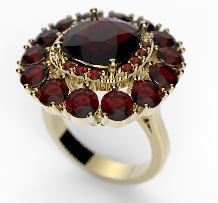3d ring stones