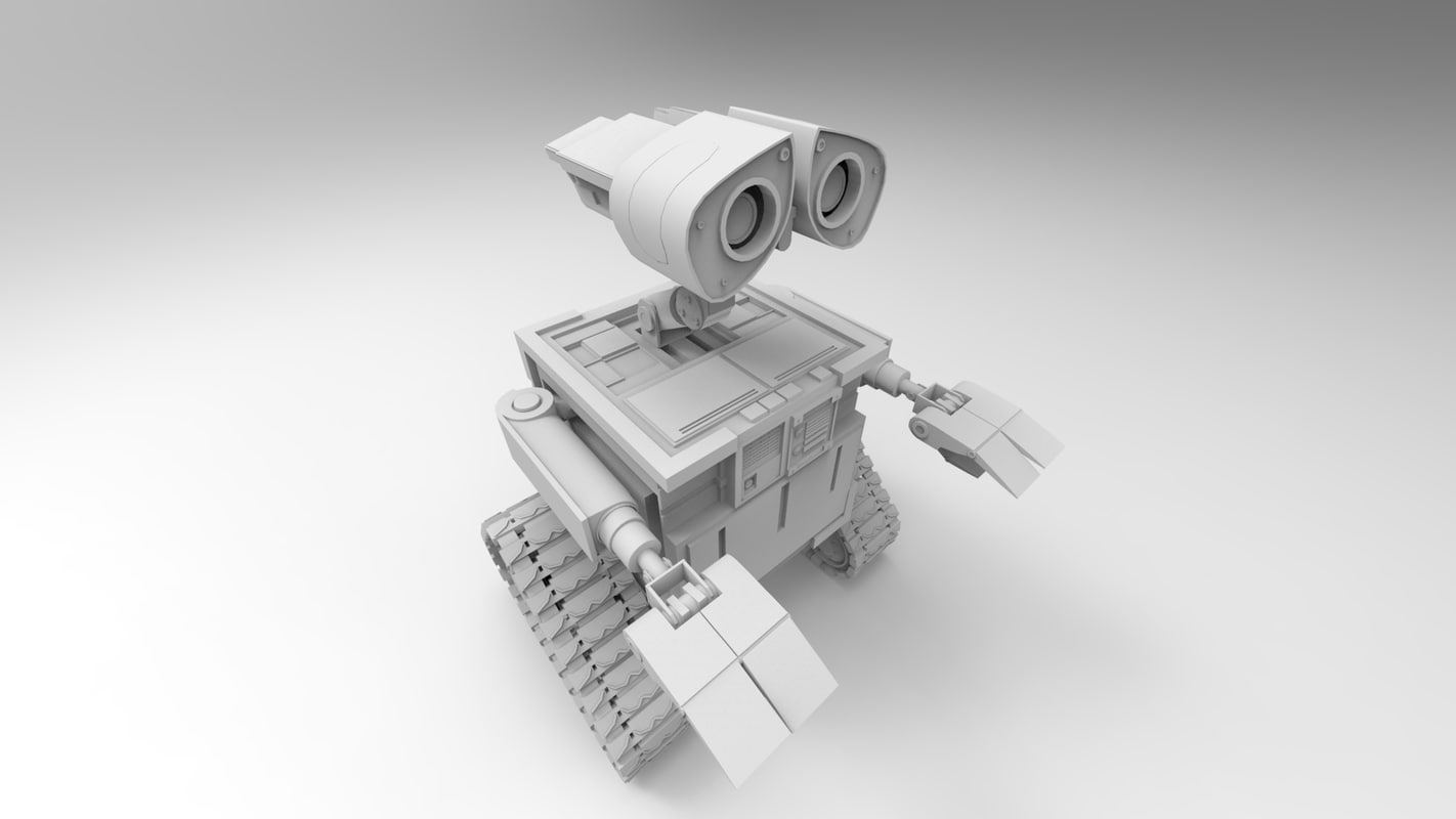 wall-e robot animation studio obj