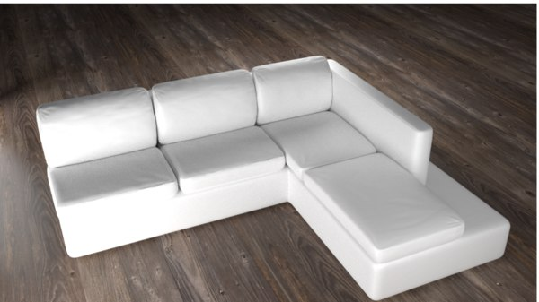 couch white 3d 3ds
