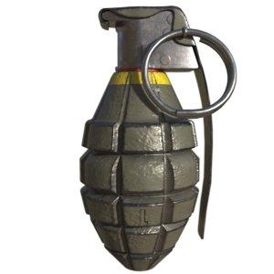 3d grenade mkii model