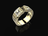 Man Ring with stones 3DM STL