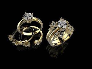 3d ring stones stl print