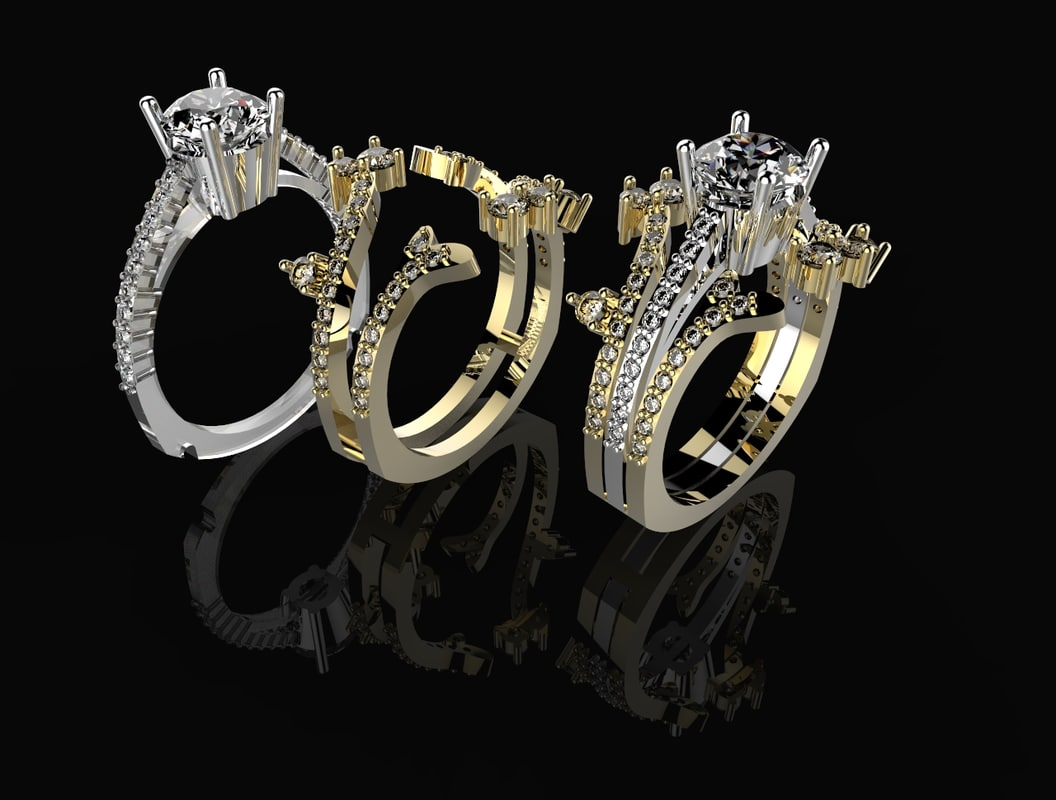 beautyful ring stones 3d model