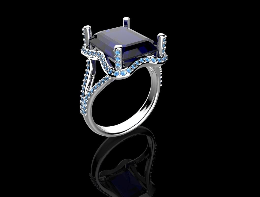 ring stones stl print 3d model