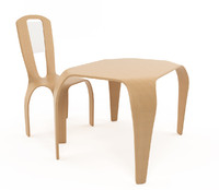 3d table chair