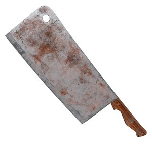 3d butcher knife rusty