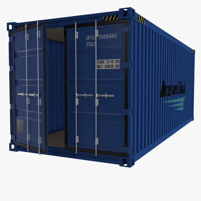3d 20 foot storage container model
