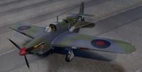 plane fairey fulmar mk-1 3d 3ds