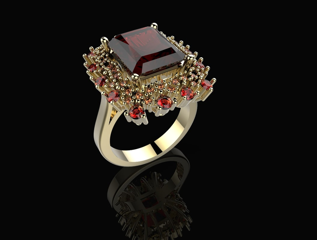 3d model of ring flower stl