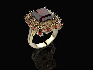 3d model of ring flower stl