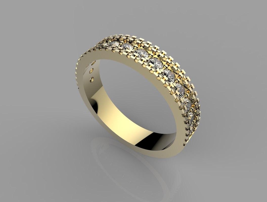 3d ring stl model