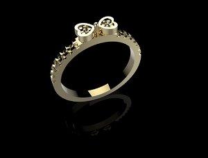 ring bow stones stl 3d 3dm