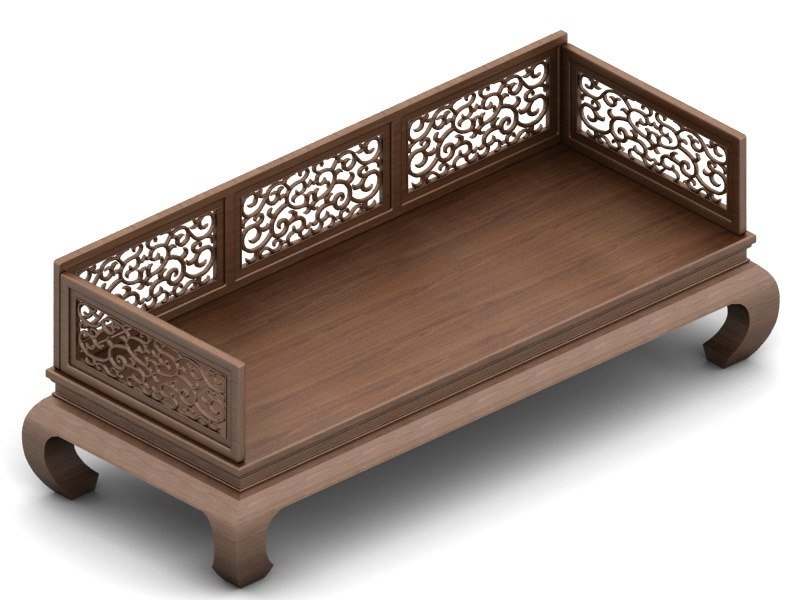 chinese bench 3d max