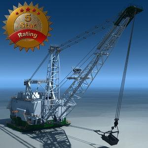 bucyrus erie 8750 dragline 3d max