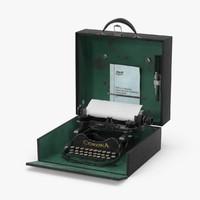 3d vintage corona portable typewriter