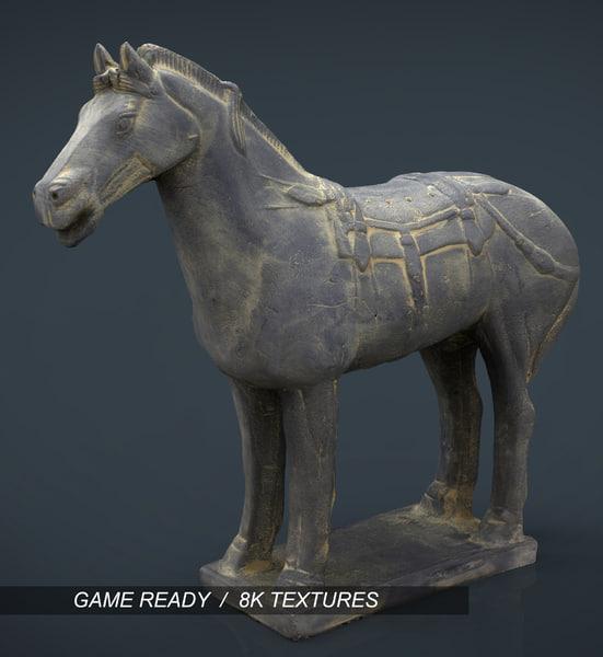 terracota war horse 3d model