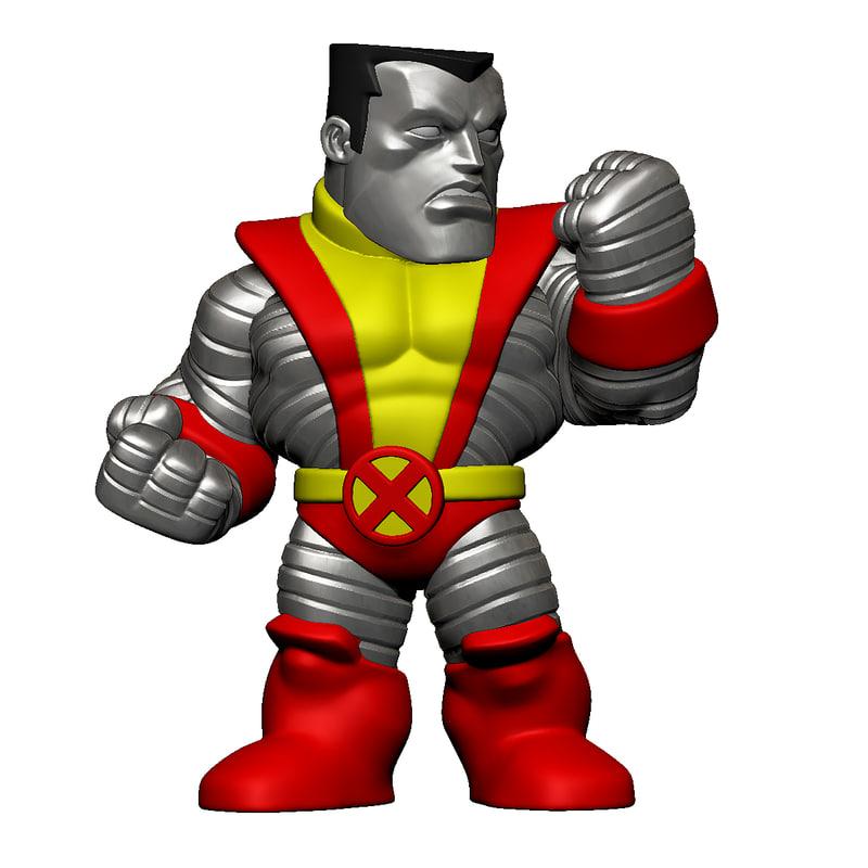 colossus x-men 3d model