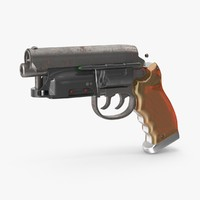 3d deckard-gun- blade-runner model