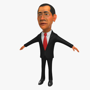 3d model obama character
