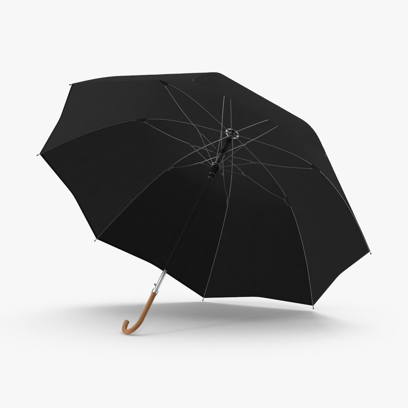 3d model open-umbrella-02