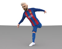 3d messi multicolor printing model