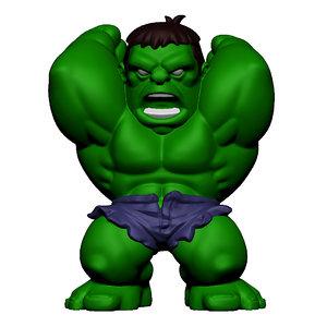 3d model hulk marvel