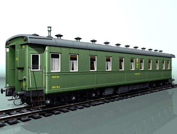 6-axle passenger railcar 3d model