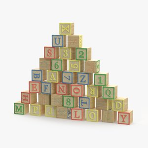 letter-blocks 3d max