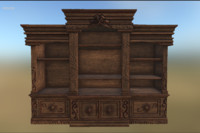 3d victorian entertainment center